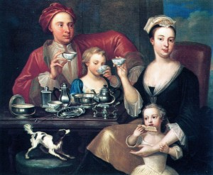 English Family At Tea